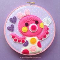 Animal Crossing Marina Embroidery by iggystarpup