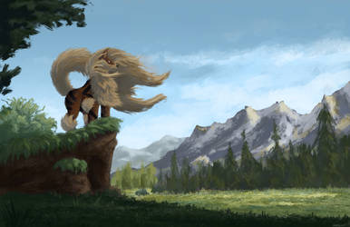 Arcanine Valley - Testing brush and lighting by SassyCess