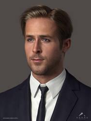 Ryan Gosling 3D Model WIP 2 by mabdelfatah