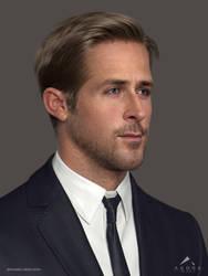 Ryan Gosling 3D Model WIP 3 by mabdelfatah