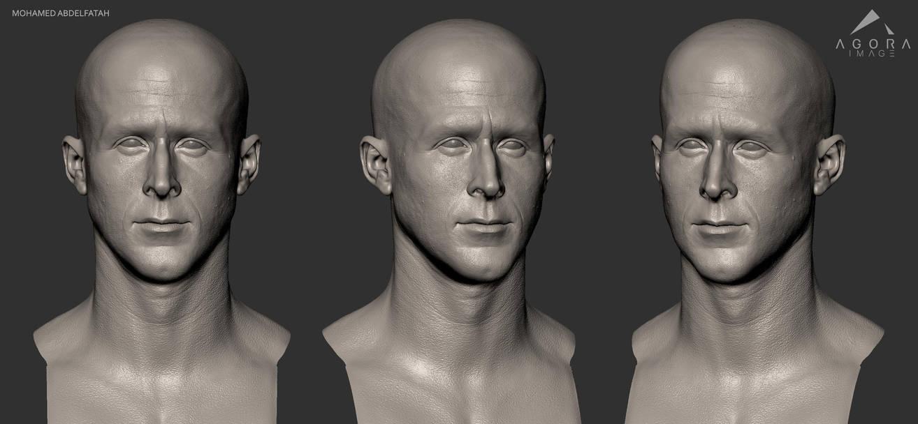 Ryan Gosling 3D Model WIP Sculpt by mabdelfatah