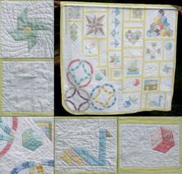 baby quilt by Fabric-ant
