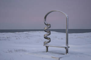 Curly metal bench by Arctic-Stock