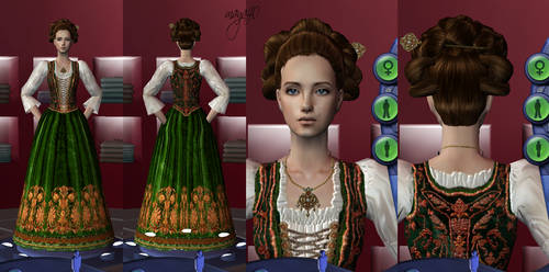 A hungarian noblewoman robes by maya40