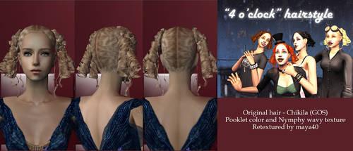 4 O Clock - Alpha edited and retextured hair by maya40