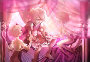 Pink Diamond and her Pearls by SkyroreDraws