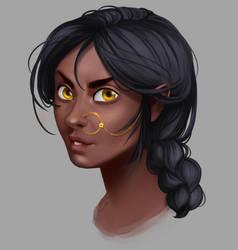 Sylph Portrait Study by SkyroreDraws