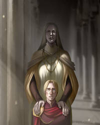 The Empress and her Son by SkyroreDraws