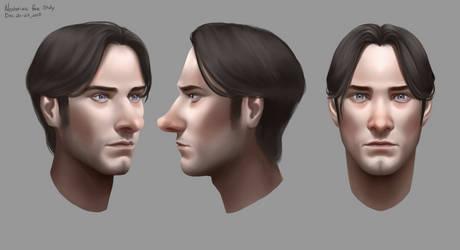 Nestorius Face Study - Redo 1 by SkyroreDraws