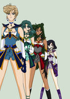 Rise Of The Brillare Senshis *Outers* by MahouChikara