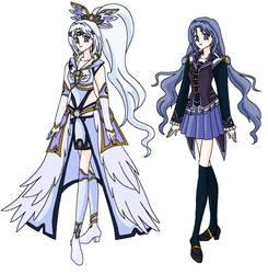 Mikomi and Sailor Anjera by MahouChikara