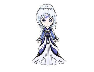 Chibi: Princess Ophelia by MahouChikara