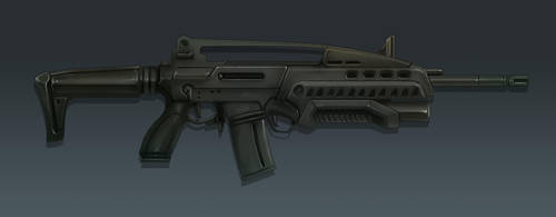 M18 Rifle Concept Art (Side View) by Domayv