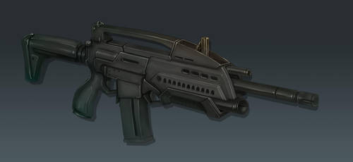 M18 Rifle Concept Art (Perspective View) by Domayv
