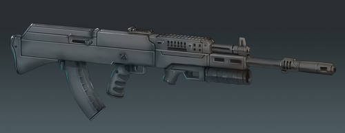 AK-36 Rifle Concept Art (Perspective View) by Domayv