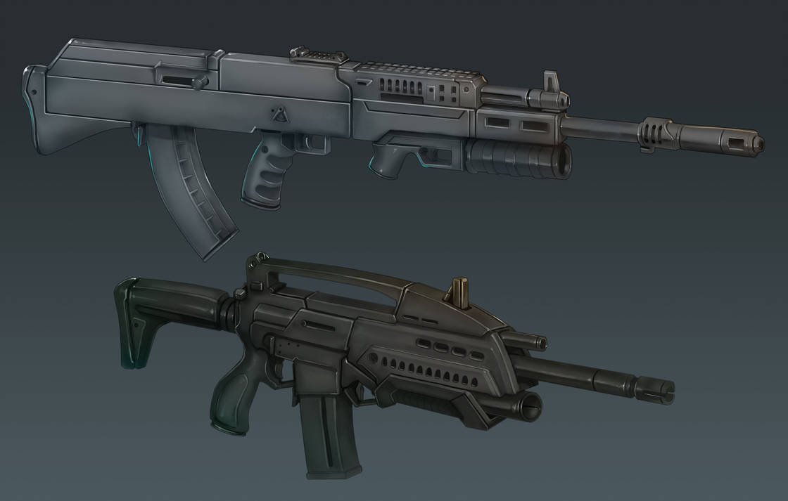 M18 and AK-36 Perspective View by Domayv