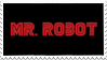 USA Network's Mr. Robot Logo Stamp by omnivore-daydreams