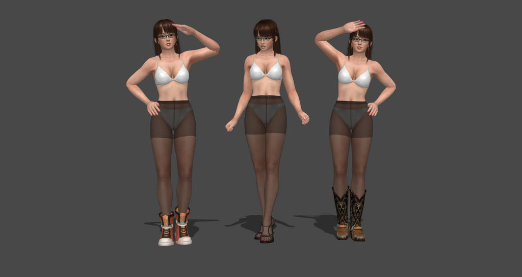 How to add boots on DOA5 Models without swapping by bstylez