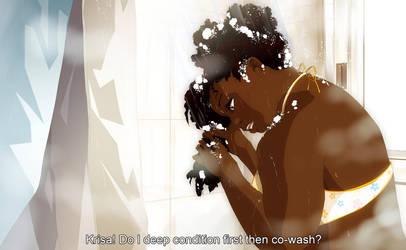 Hair Wash Day by SKY-Morishita