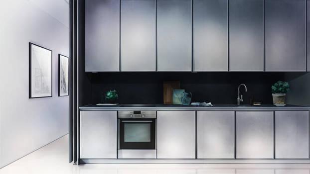 Visual Novel Kitchen Background by SKY-Morishita