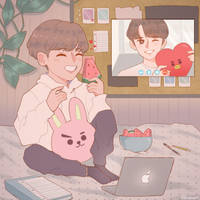 distant relationship   vkook by keiyaumi
