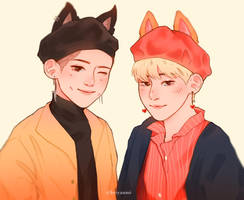 fox and wolf by keiyaumi