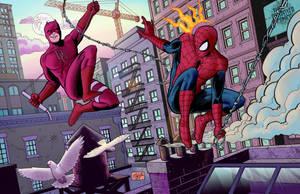 Spider-man and Daredevil by Nick-OG