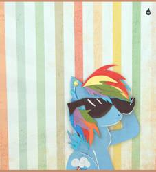 My Little Selfies Series - Rainbow Dash. by MonotoneInkwell