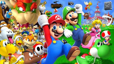 Super Mario Bros. 30th Anniversary Wallpaper by Lwiis64