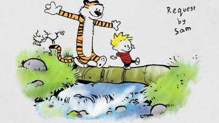 Calvin and hobbes by sakura2water
