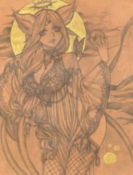 .Espeon Sketch. by SamuraiNataku