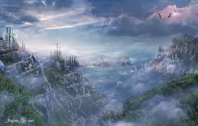 Foggy city by An-gora