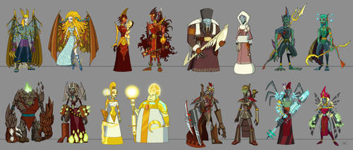 misc characters by ZheSyt