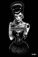 Zombie Girl 666 by MarcusJones