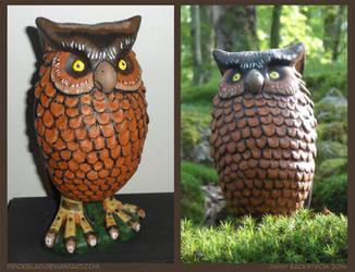 Repainted Owl by Prickblad