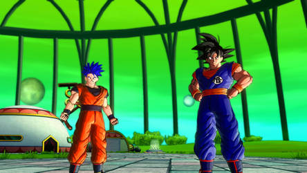 DBXV2: Taven and Goku Clothing Swap by TavenPrower