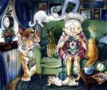 The Cat Lady by captainashletART