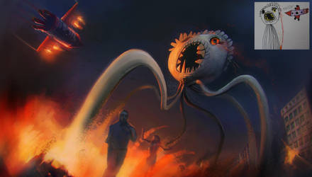 Tentacle Beast of a Child by lord-phillock