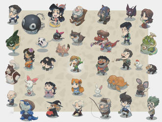 Koholint Characters by lord-phillock