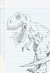 Dino Sketch on Notepad by weezel365