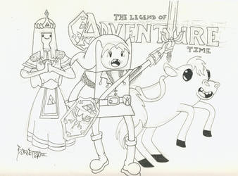 The Legend of Bubblegum + The Adventure of Finn by weezel365