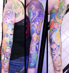 Completed Dragonball Z Sleeve by ILoveTrunks