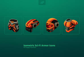 Isometric Sci-fi Armor Icons by ScriptKiddy