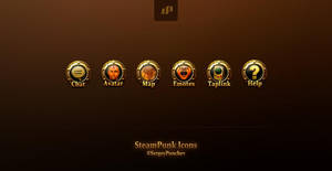SteamPunk UI Icons by ScriptKiddy
