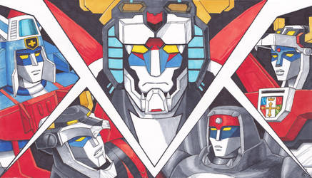 The Five faces of Voltron by Cheetoy
