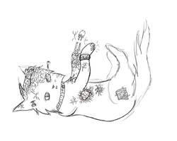 [Croquis] robotcat by Blazesasa