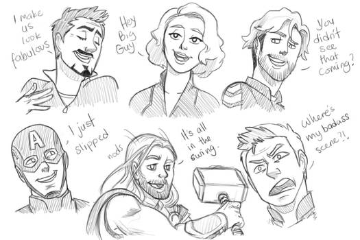 Age of Ultron sketches 2 by pencilHead7