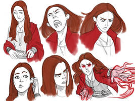 Scarlet Witch sketches by pencilHead7