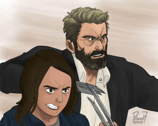 Logan and X-23 by pencilHead7