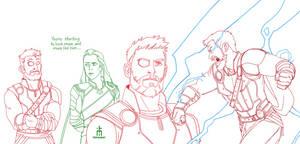Thor Odinson by pencilHead7